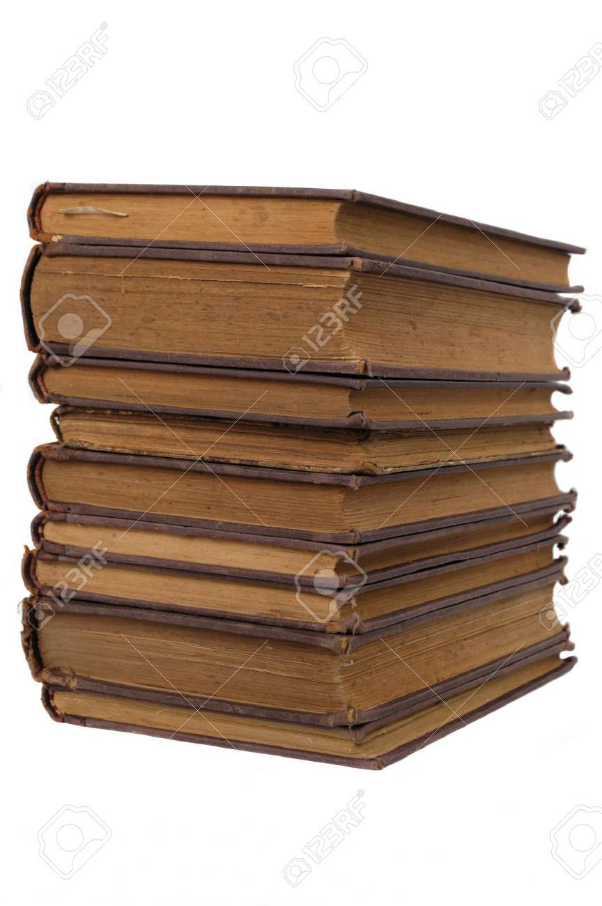 stack of old books isolated Stock Photo - 12726471