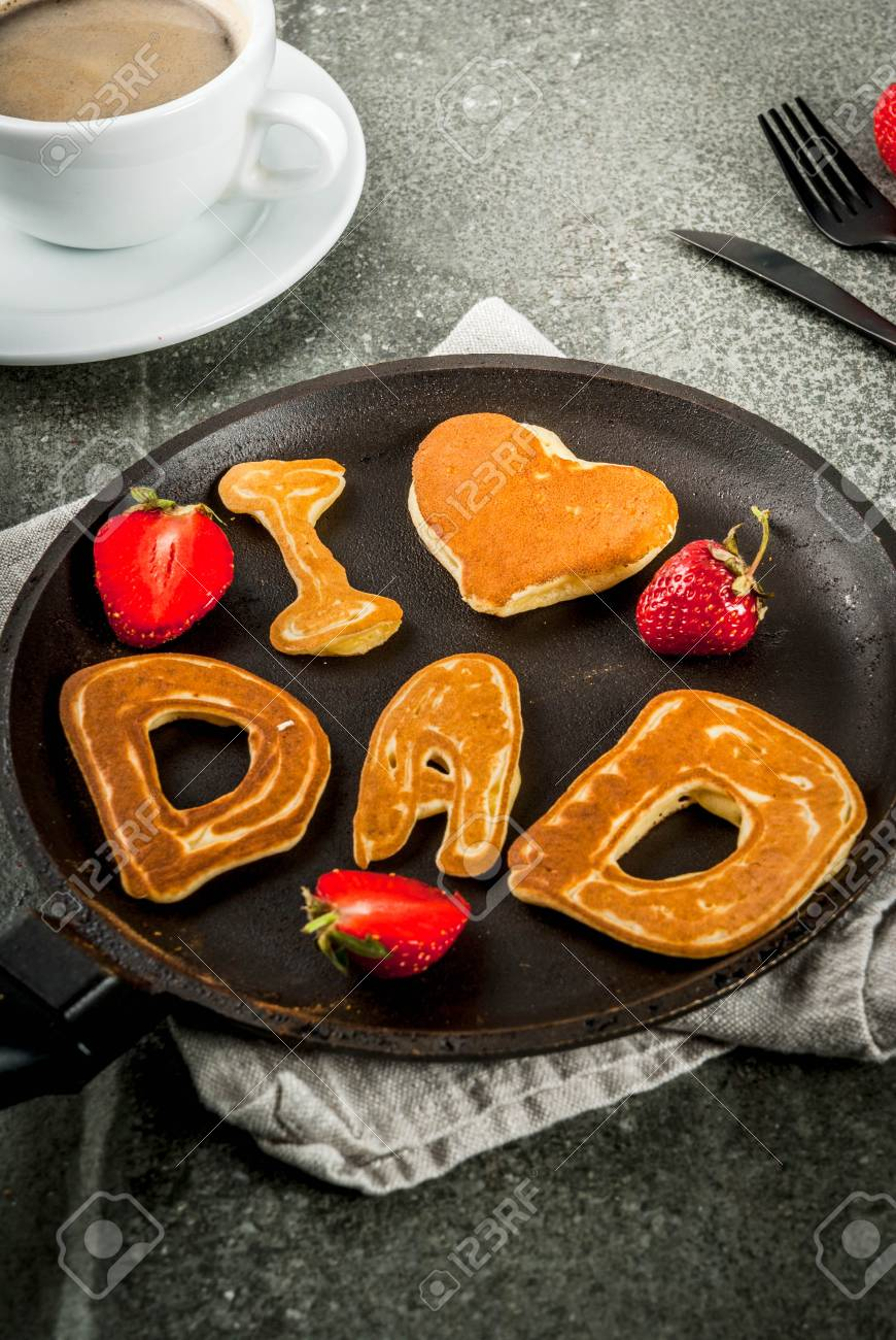 Celebrating Father S Day Breakfast The Idea For A Hearty And Stock Photo Picture And Royalty Free Image Image 80022613