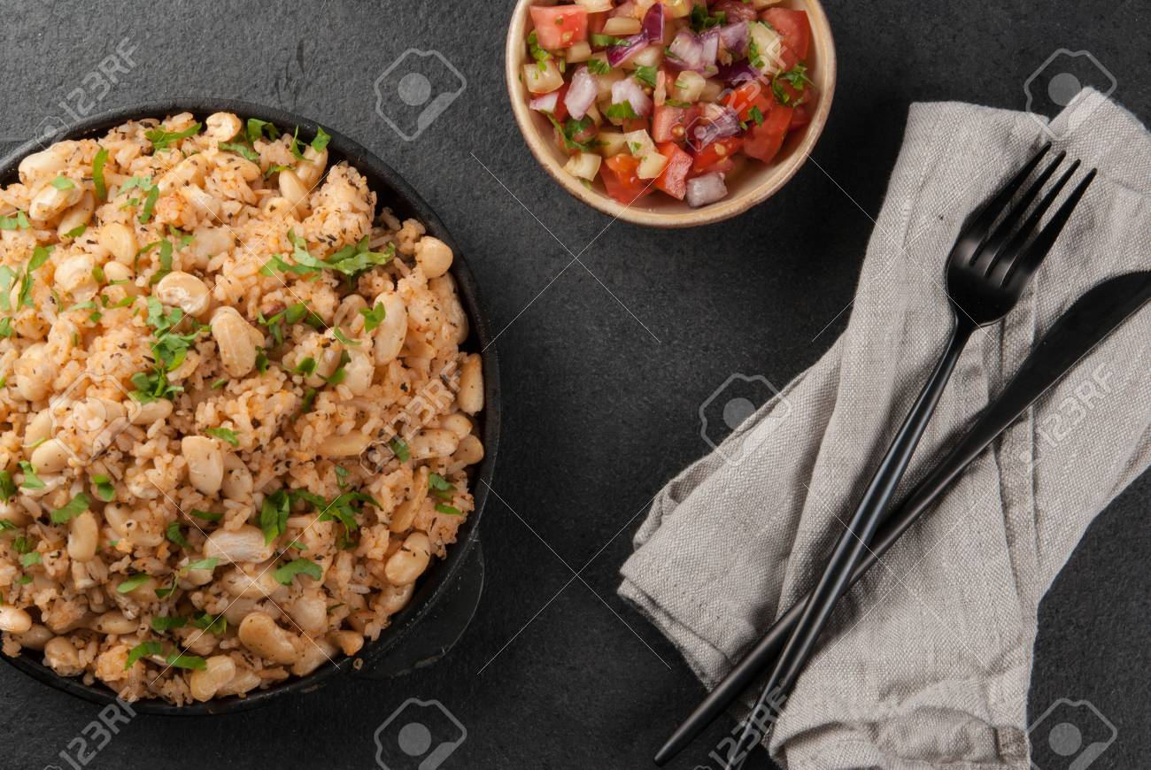 Mexican latin american cuisine mexican rice and beans bowl stock mexican latin american cuisine mexican rice and beans bowl is a recipe made with forumfinder Images