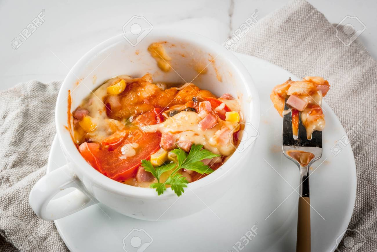 Trendy Modern Food Fast Food Lunch In The Microwave Pizza Stock Photo Picture And Royalty Free Image Image 87781529