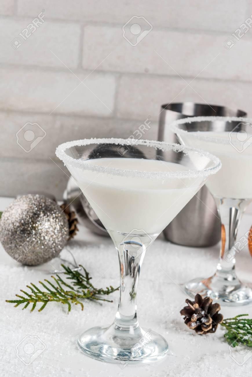 Ideen Und Rezepte Für Weihnachtsgetränk. Weißes Schokoladen ...