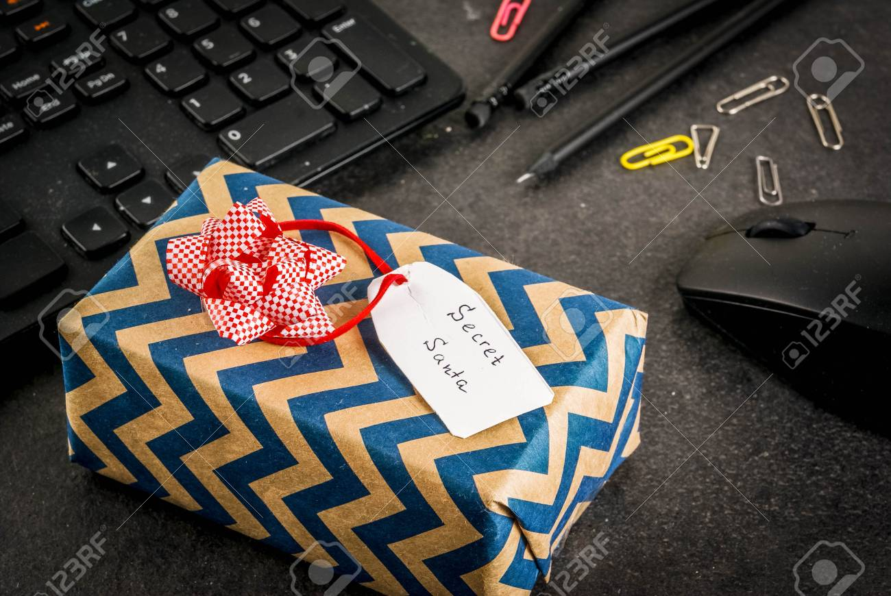 Office Christmas Celebration Concept, The Idea Of Sharing Gifts ...