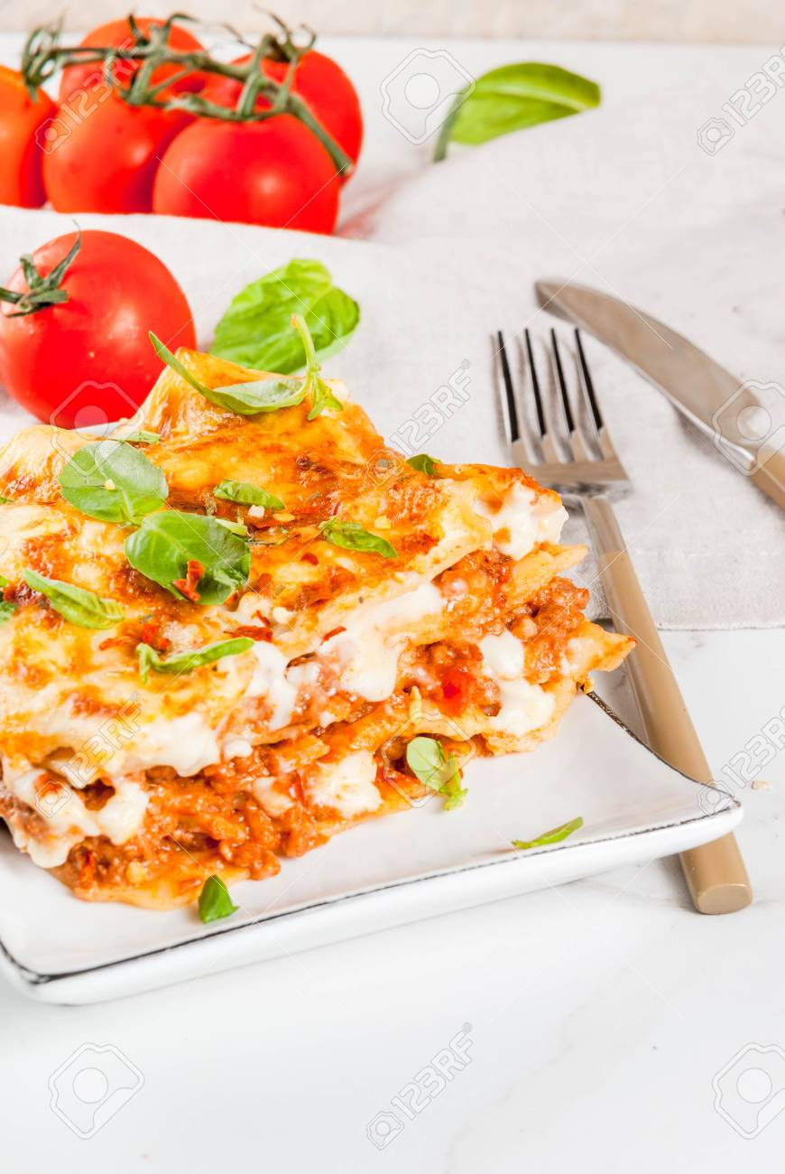 Italian food recipe dinner with classic lasagna bolognese with b italian food recipe dinner with classic lasagna bolognese with bchamel sauce parmesan forumfinder Gallery