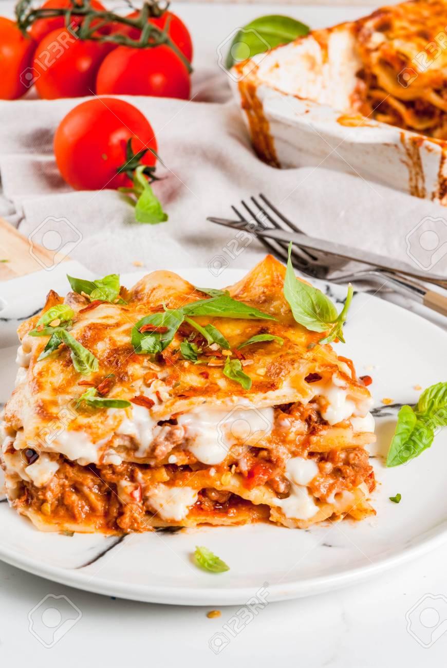 Recette De Cuisine Italienne Diner Avec Lasagnes Classiques
