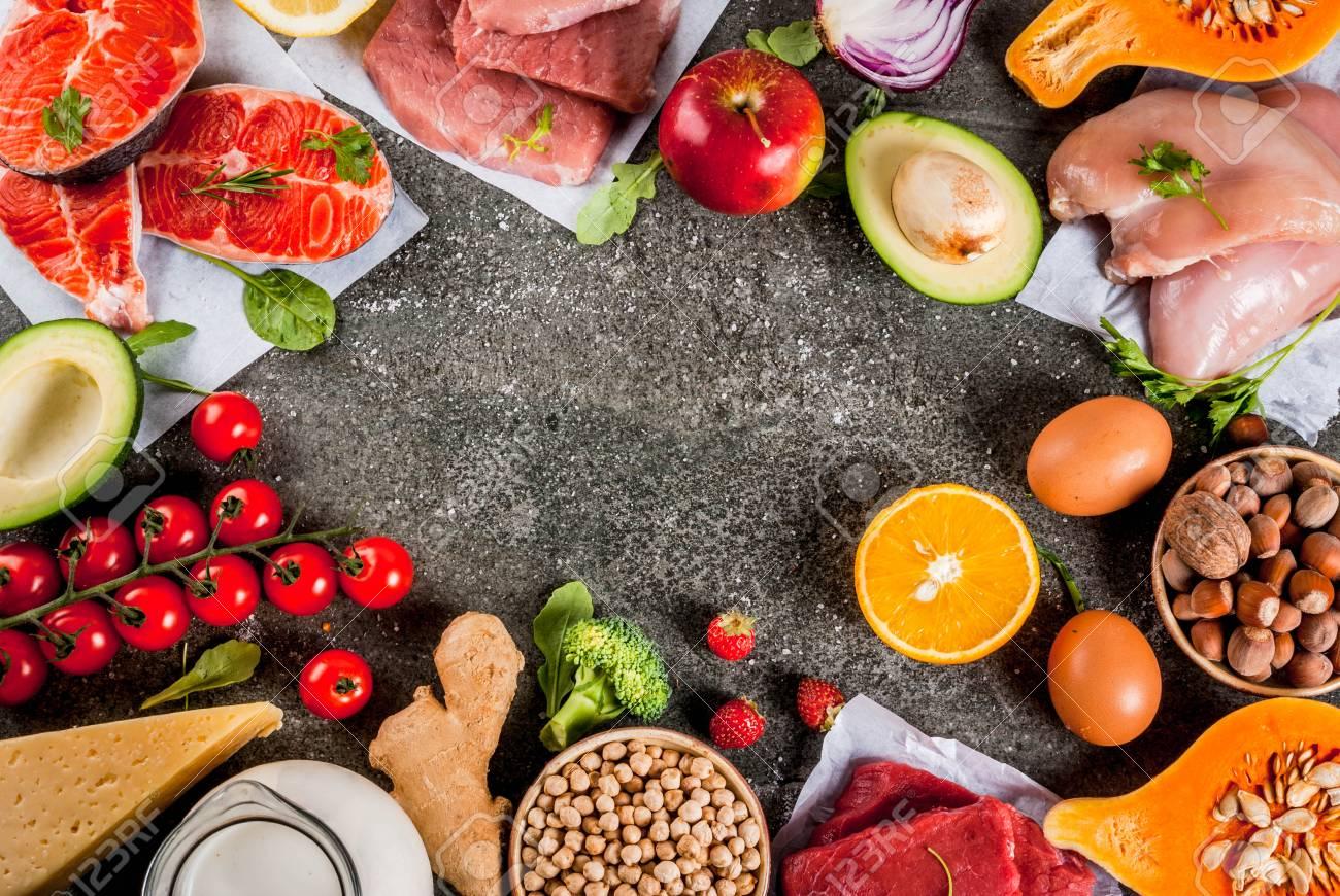 Dieta de pescado pollo y verduras
