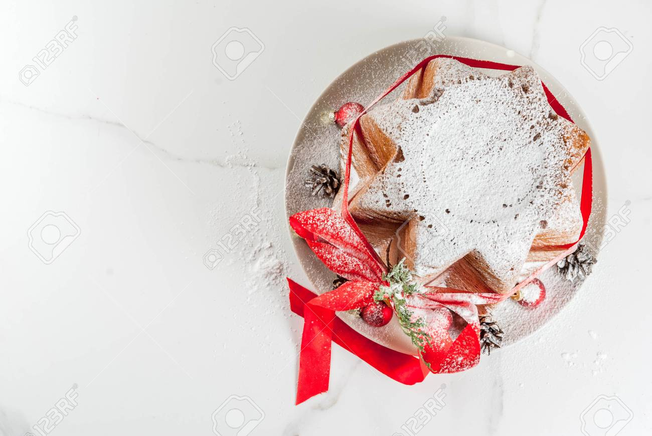 Traditional Italian Christmas Fruit Cake Panettone Pandoro With ...