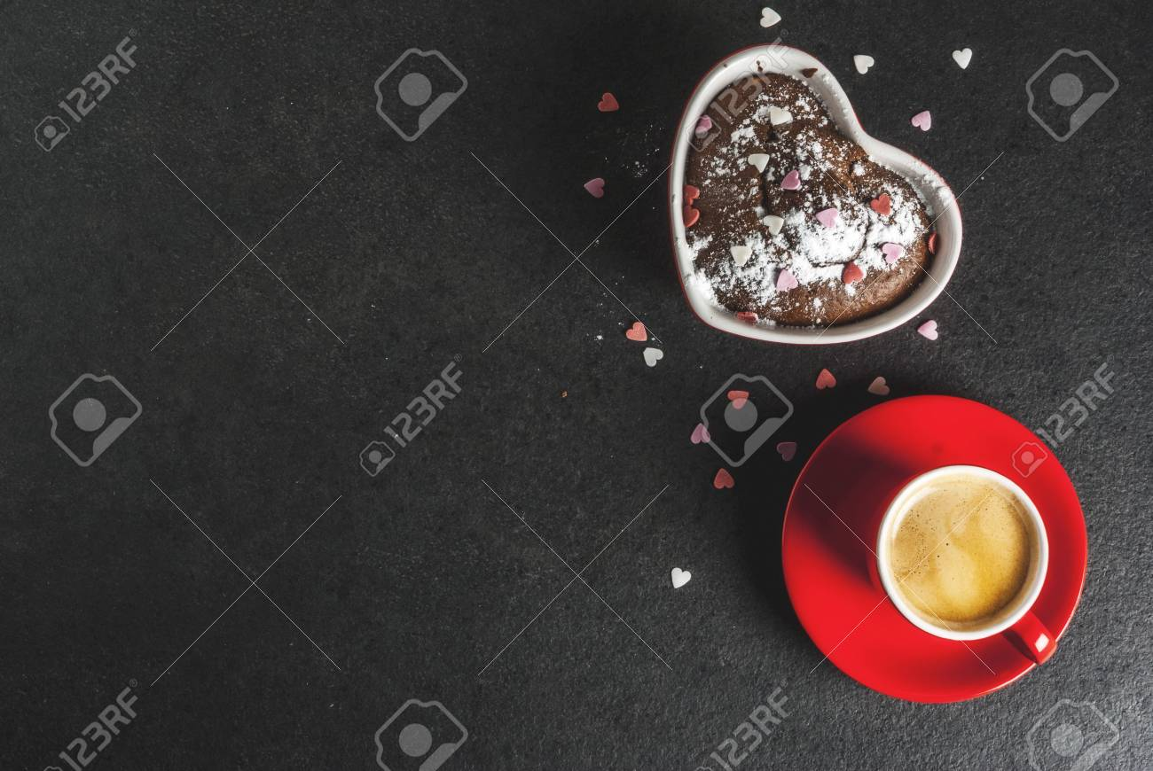 Valentine S Day Background Red Coffee Mug And Chocolate Mug Stock Photo Picture And Royalty Free Image Image 92316102
