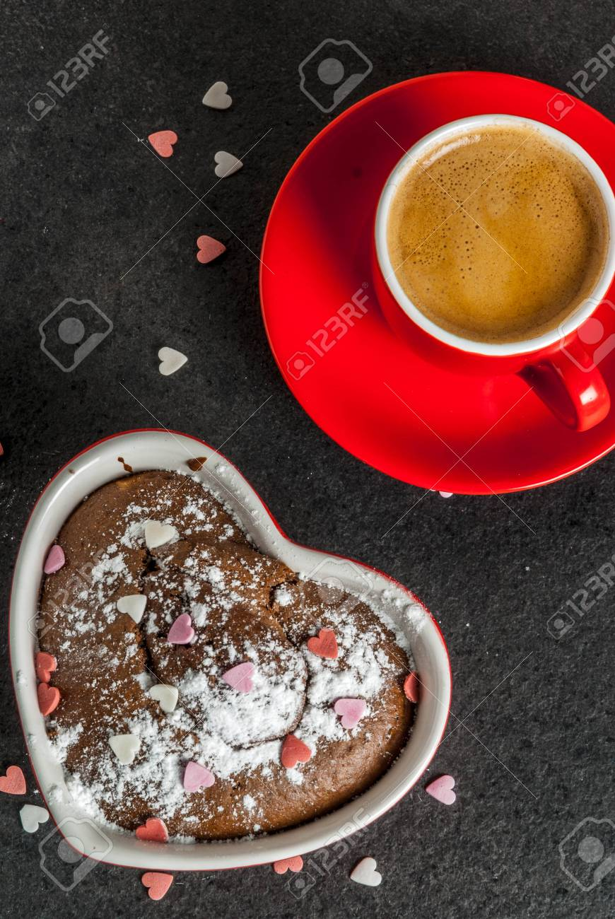 Valentine S Day Background Red Coffee Mug And Chocolate Mug Stock Photo Picture And Royalty Free Image Image 92316103