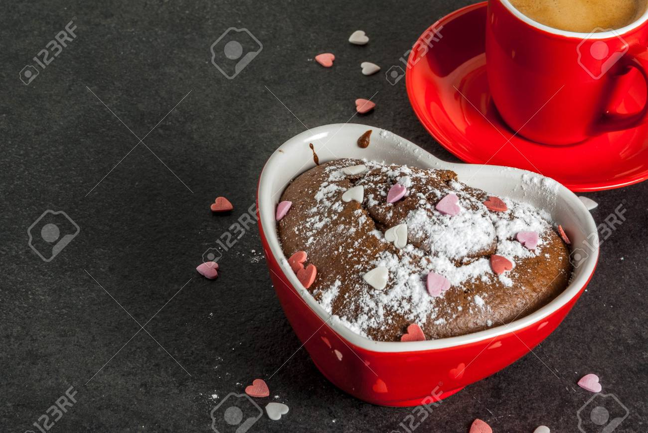 Valentine S Day Background Red Coffee Mug And Chocolate Mug Stock Photo Picture And Royalty Free Image Image 94642640