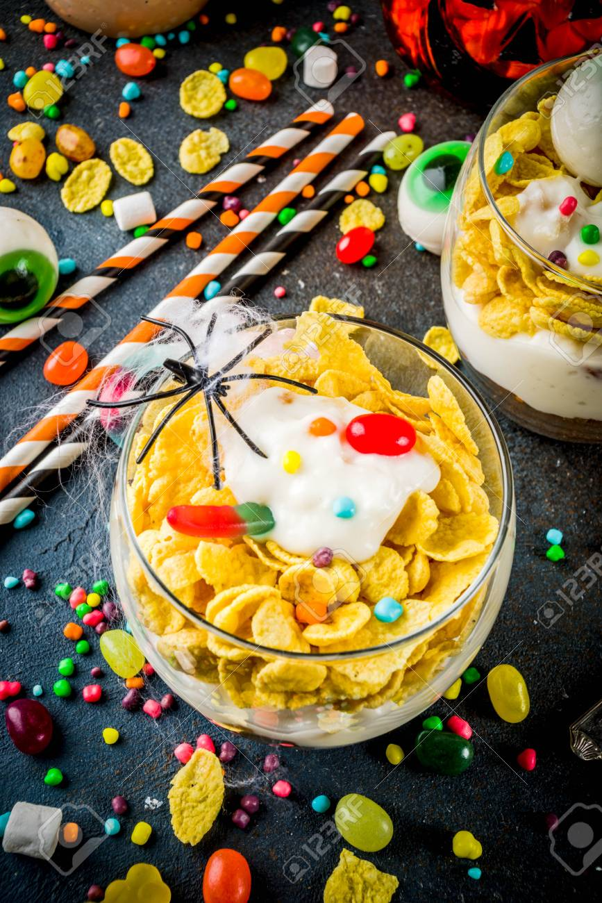 Funny Halloween Food Ideas Trifle Dessert For Kids With Spooky