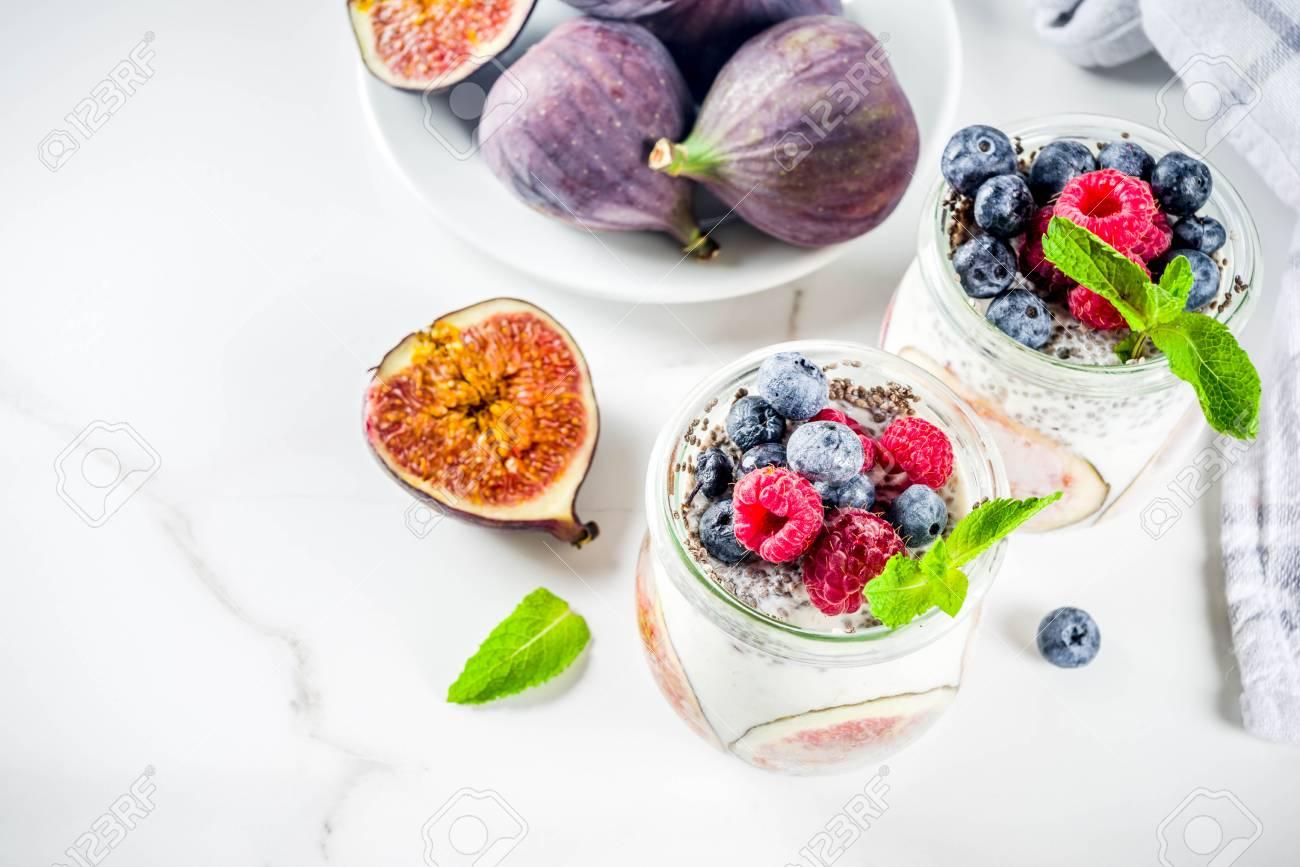Healthy detox breakfast appetizer - yoghurt smoothie or milkshake