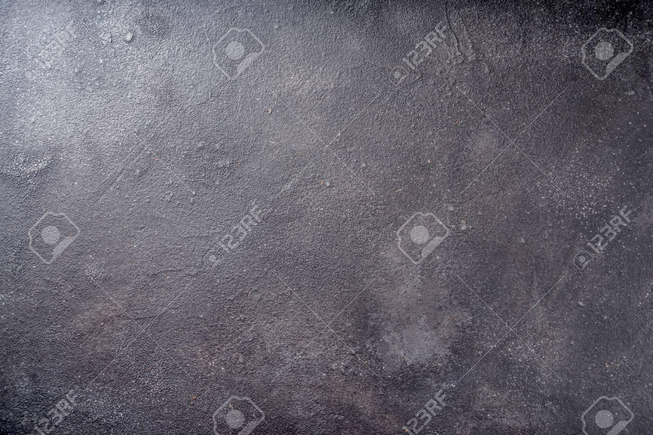 Black concrete background top view copy space - 114794473