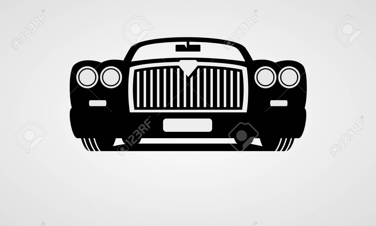 Generic Retro Car Front View Royalty Free Cliparts Vectors And