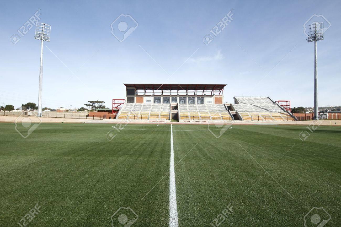 beautiful geen grass in a well kept sports stadium Stock Photo - 7493857