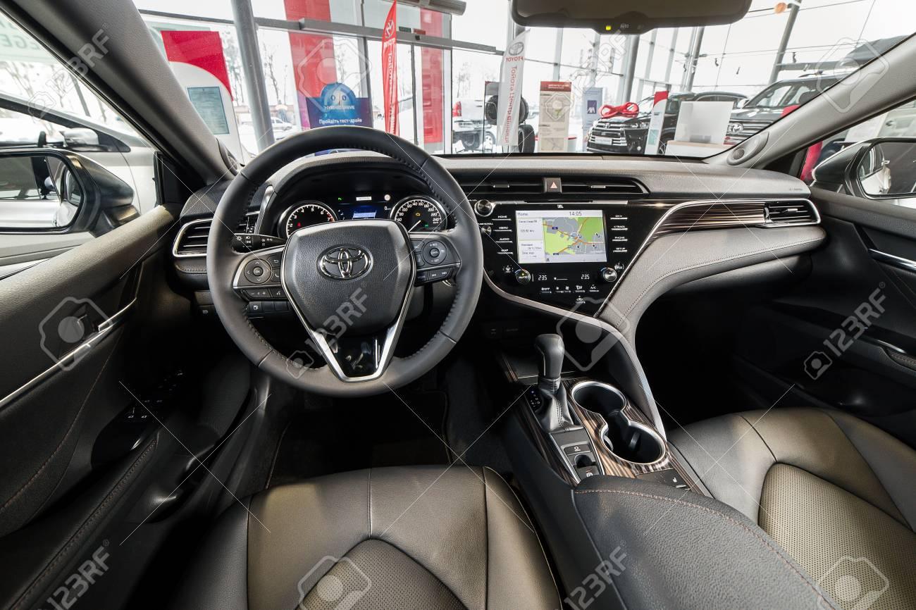 Toyota Camry 2018 Interior >> Vinnitsa Ukraine March 18 2018 Toyota Camry Concept Car