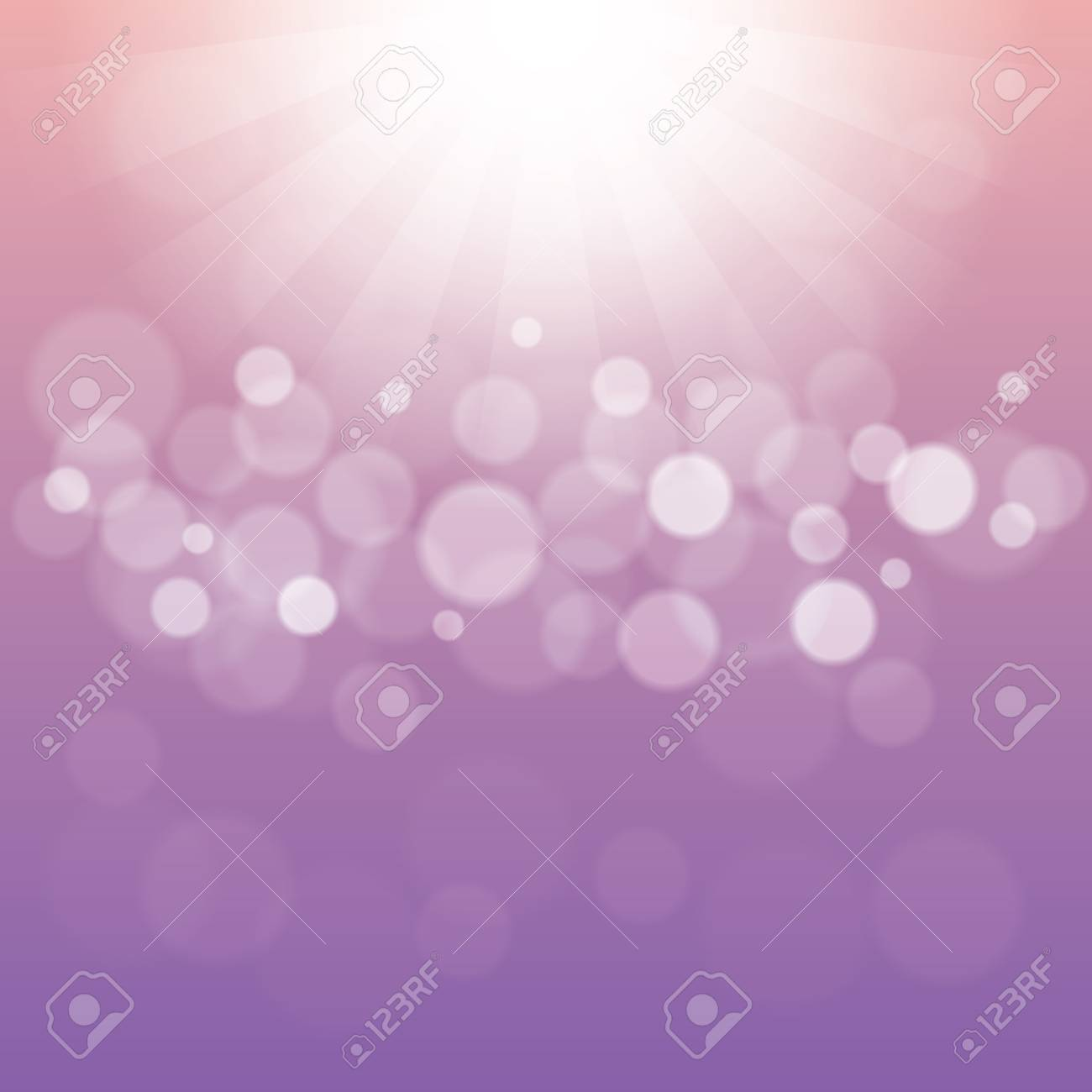 Abstract Light Purple Background with Bokeh Defocused Lights - 122660197