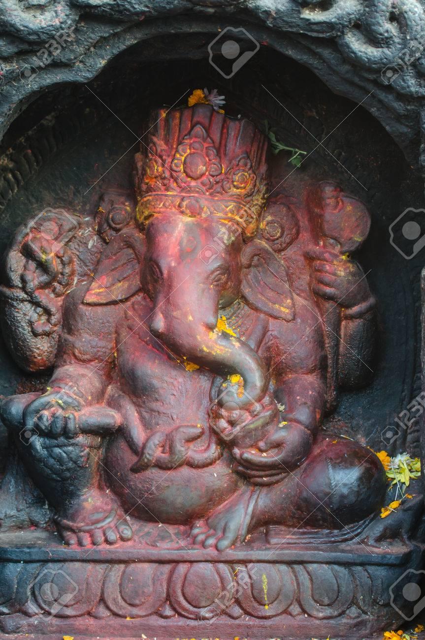 Ganesha Statue In Nepal