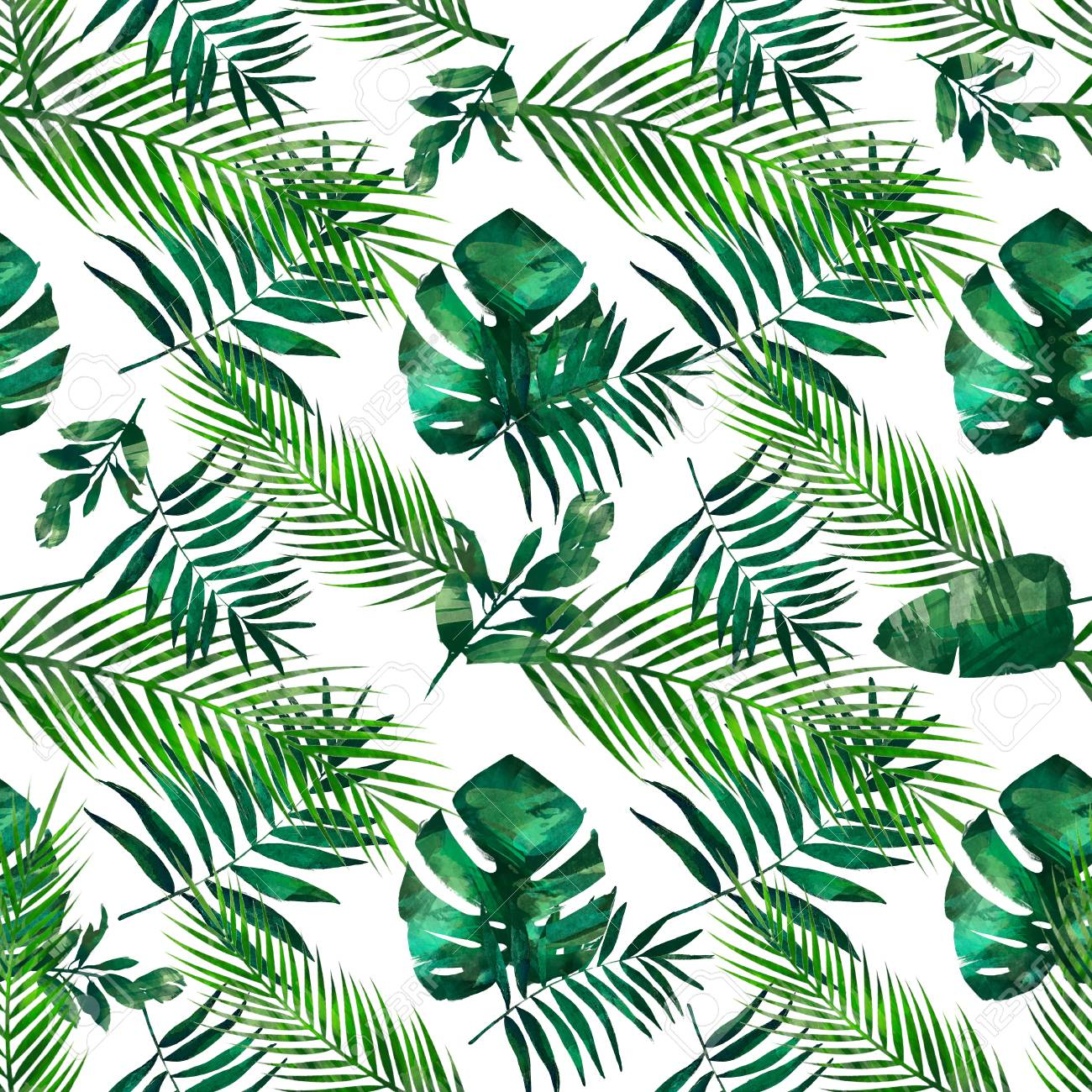 Watercolor Seamless Floral Pattern Texture With Tropical Leaves Stock Photo Picture And Royalty Free Image Image 120599481 Crotons are colorful tropical plants with either thin leaves or broad leaves, but typically bright too see any of these tropical plants just drop by the nursery. watercolor seamless floral pattern texture with tropical leaves