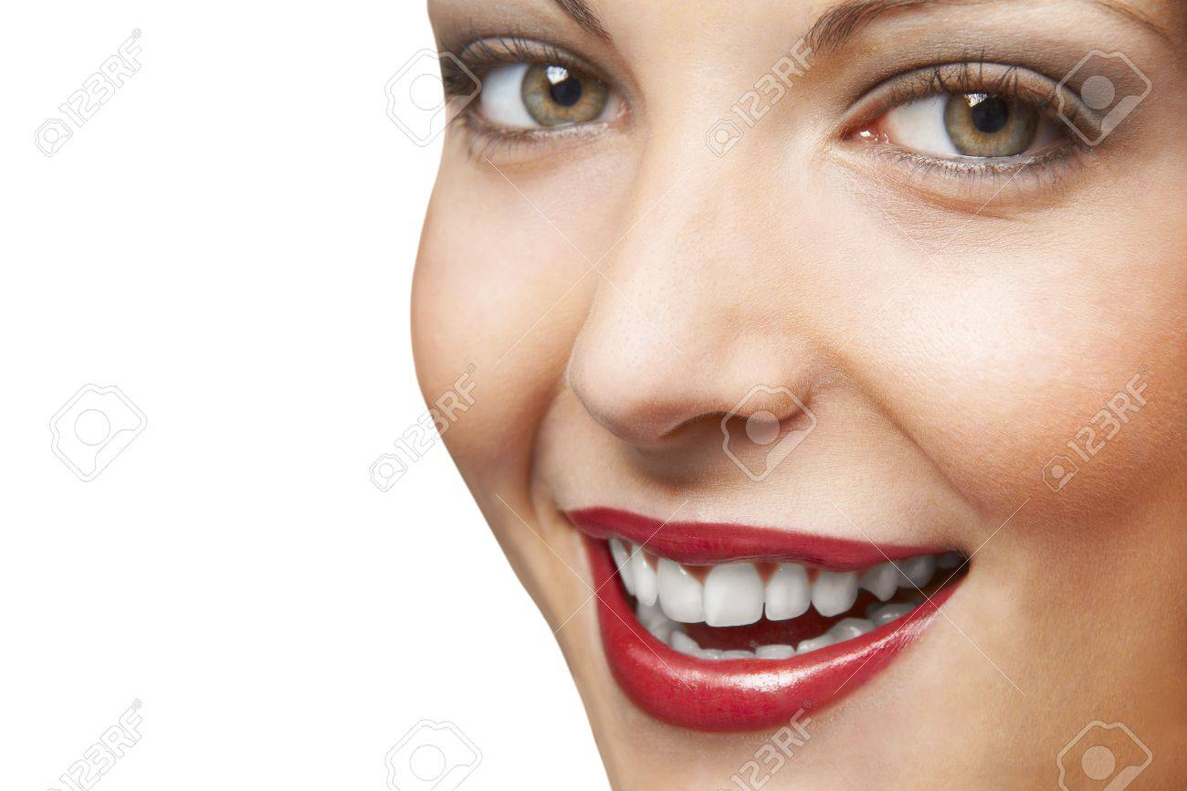 face of pretty woman laughing Stock Photo - 17186862