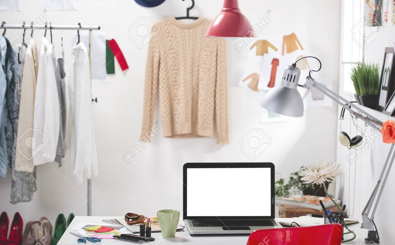 Room of a fashion blogger Stock Photo - 24404549