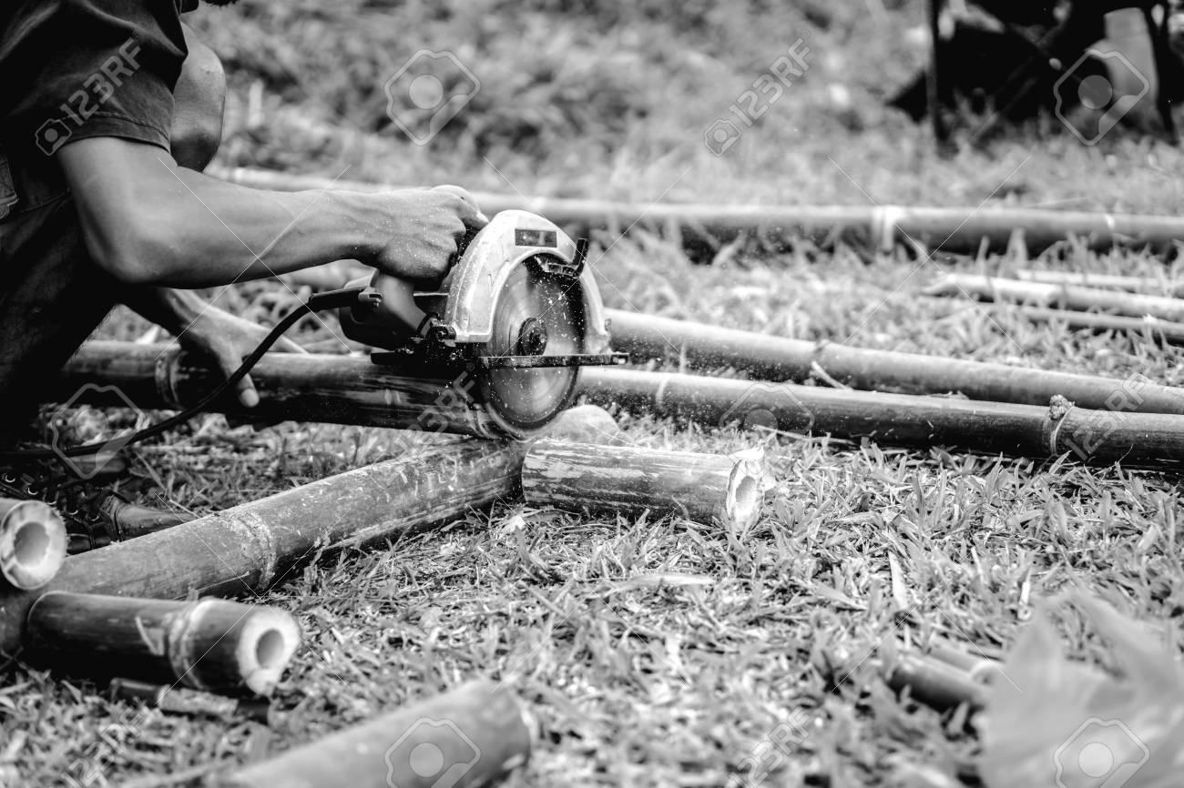 Lavorazione Del Bamb.Bambu Lavorazione Del Legno Carpentiere In Thailandia