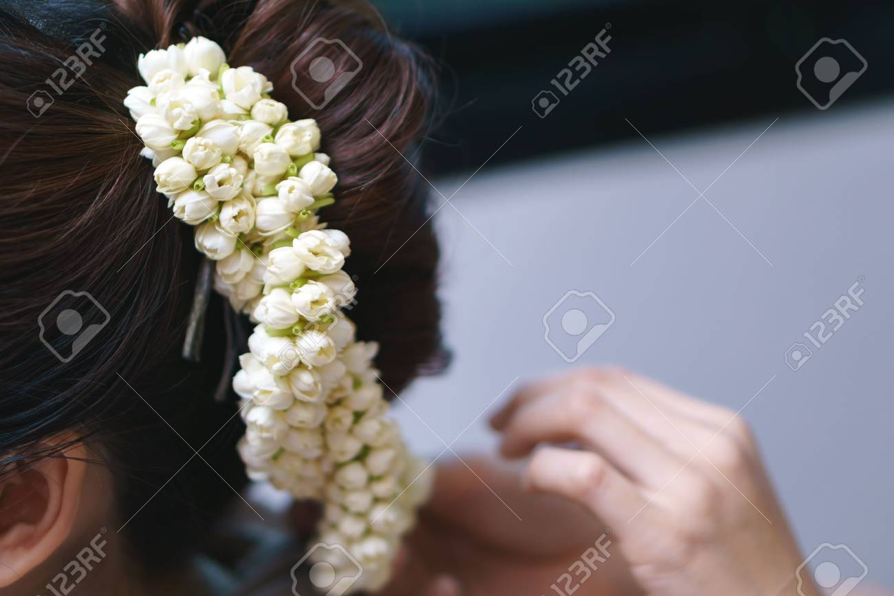Hair Decoration By Jasmine Flower Pin Thai Classical Hair