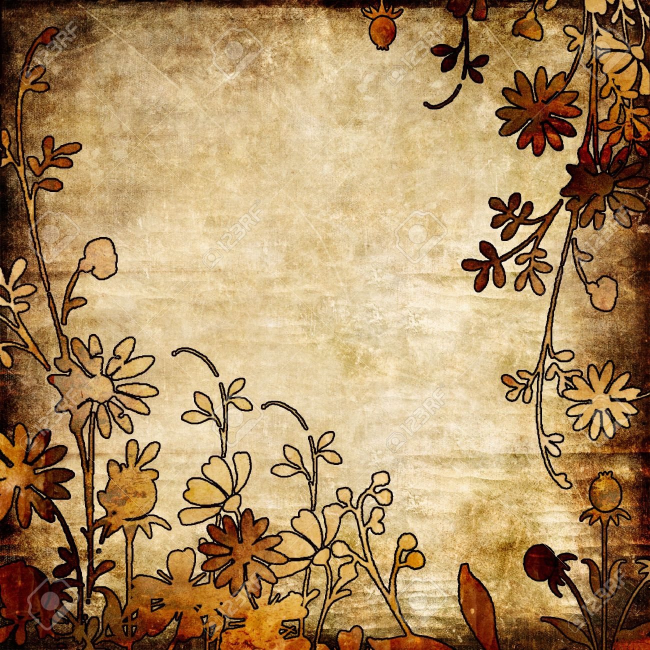 Vintage Floral Paper Stock Photo Picture And Royalty Free Image