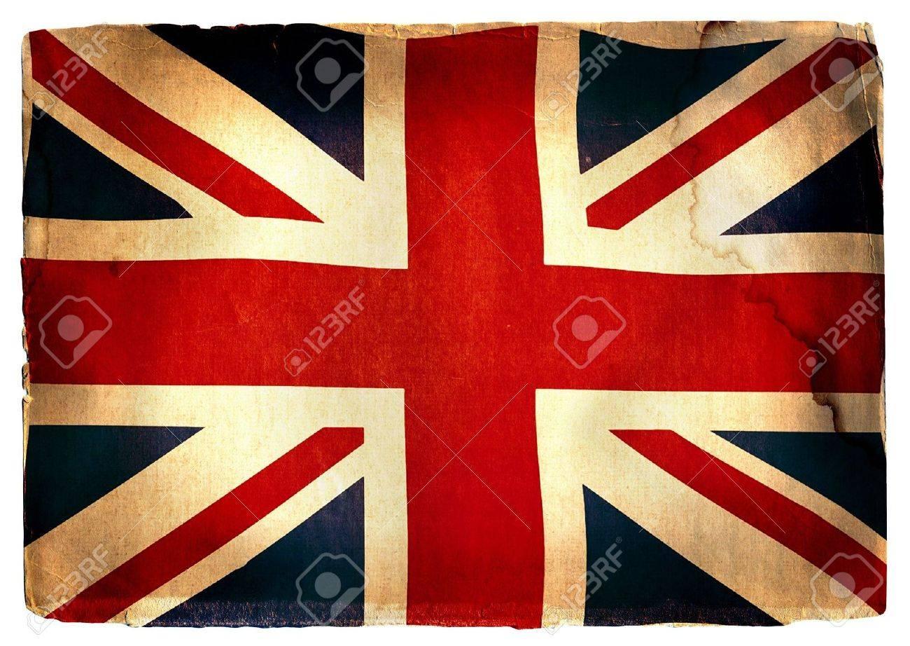 Vintage British Flag Wallpaper flag of England - vintage