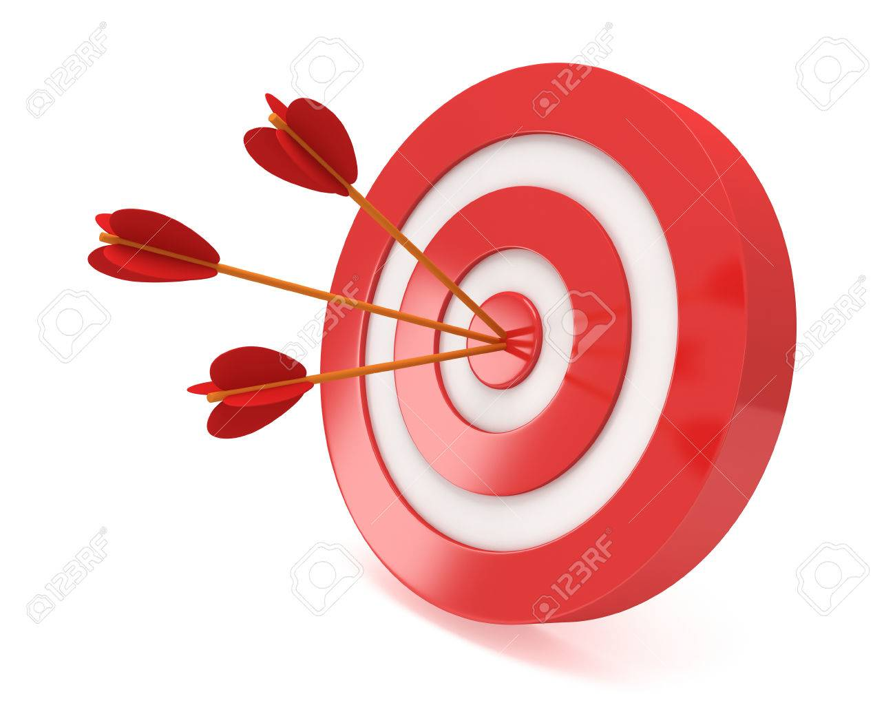 three arrows in red aim target goal luck strategy game business
