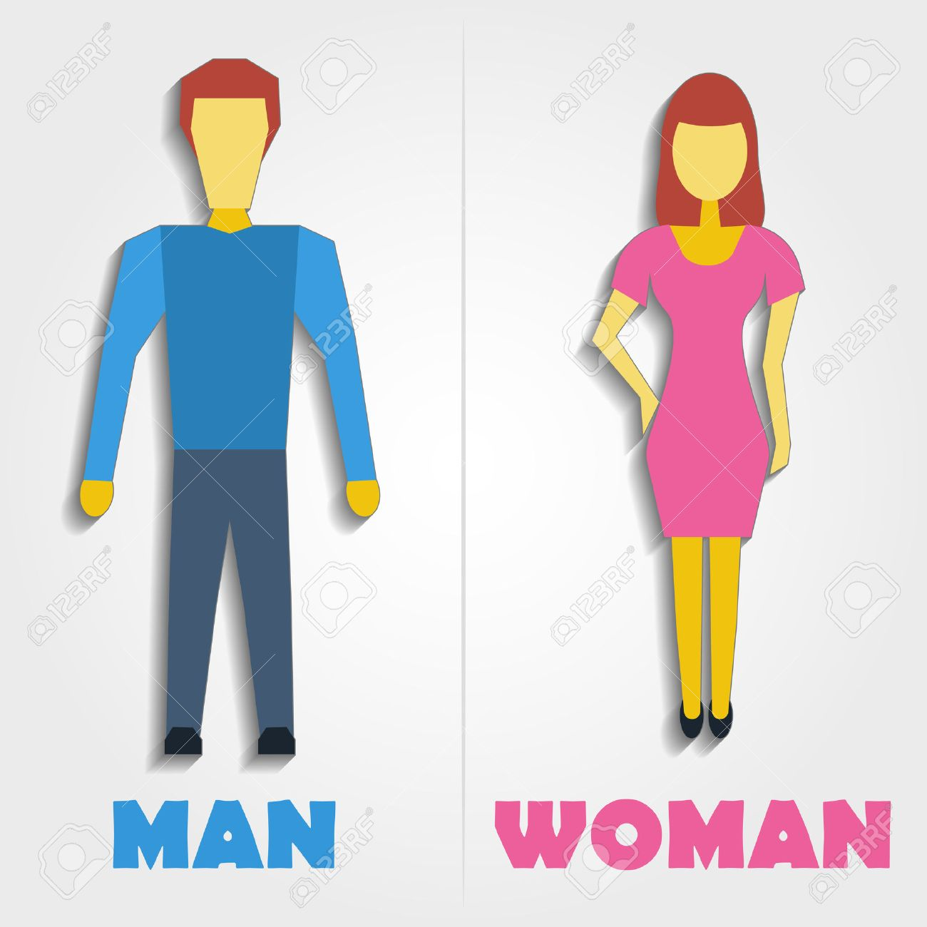 Universal restroom symbol stock photos royalty free universal male and female restroom symbol icon with blend shadows illustration buycottarizona