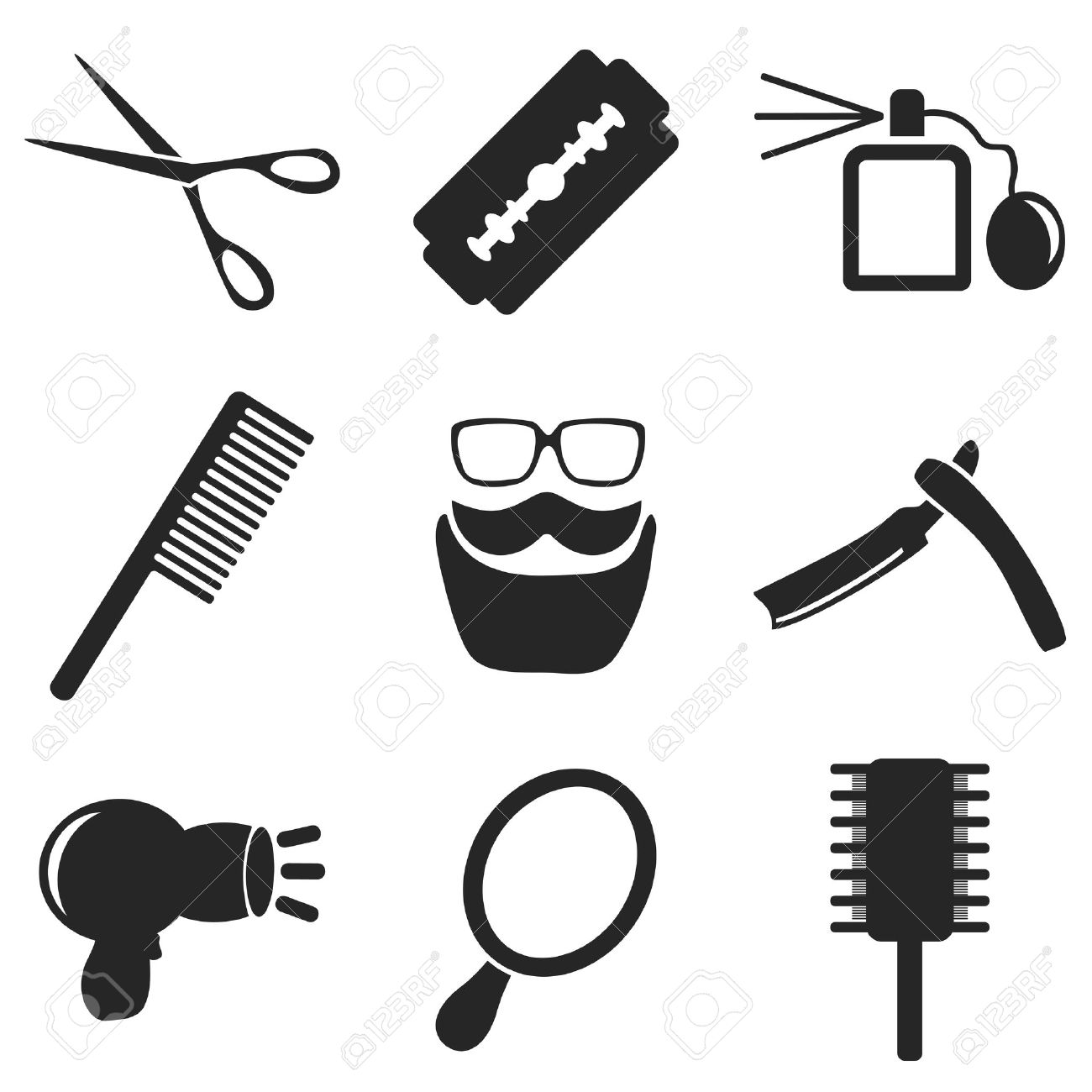 Barber web and mobile icons collections vector symbols of shaver barber web and mobile icons collections vector symbols of shaver razor blade biocorpaavc Images