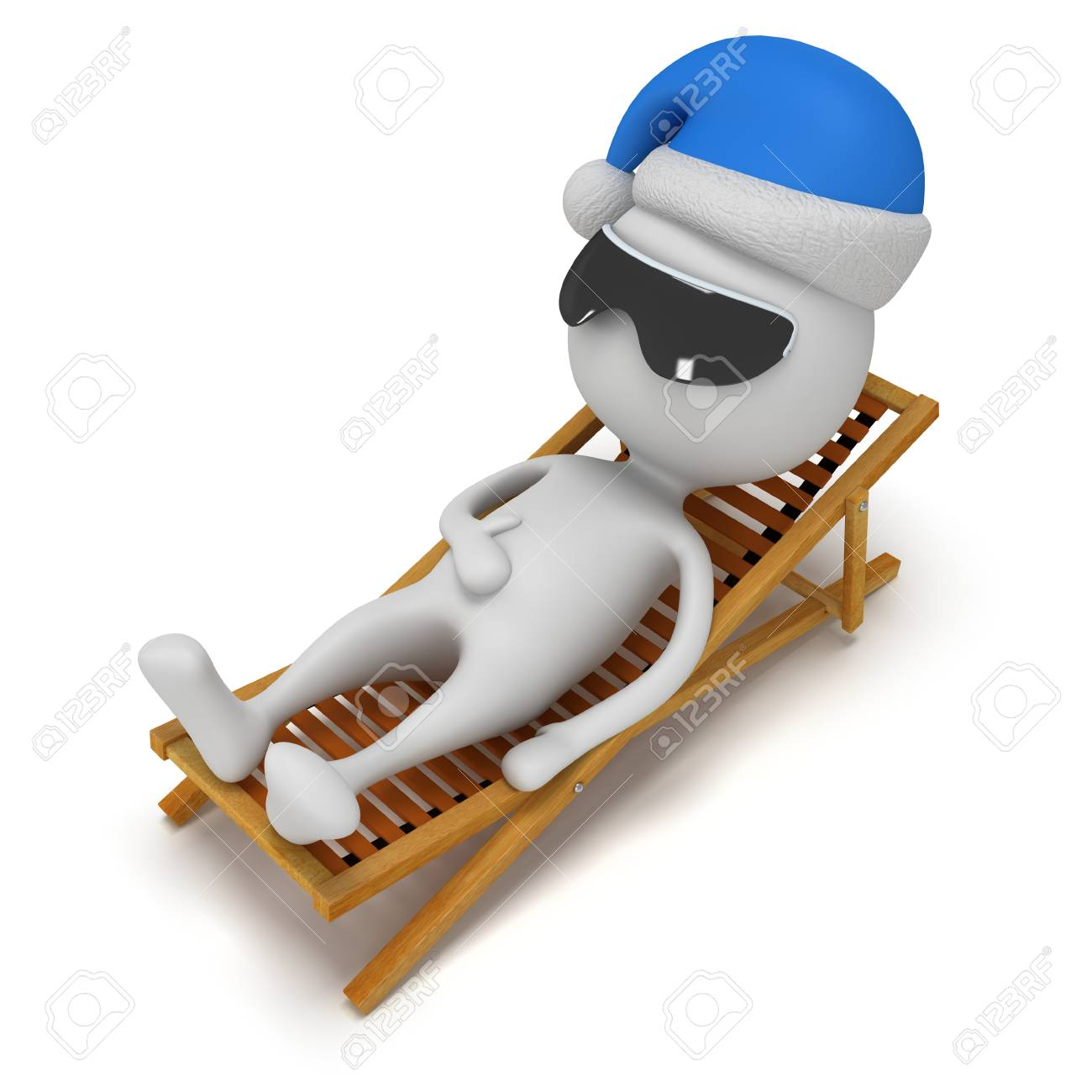 Blanc La 3d Père Longue Chaise Sur Noël Se Isolé Fond Reposer DH9WE2I