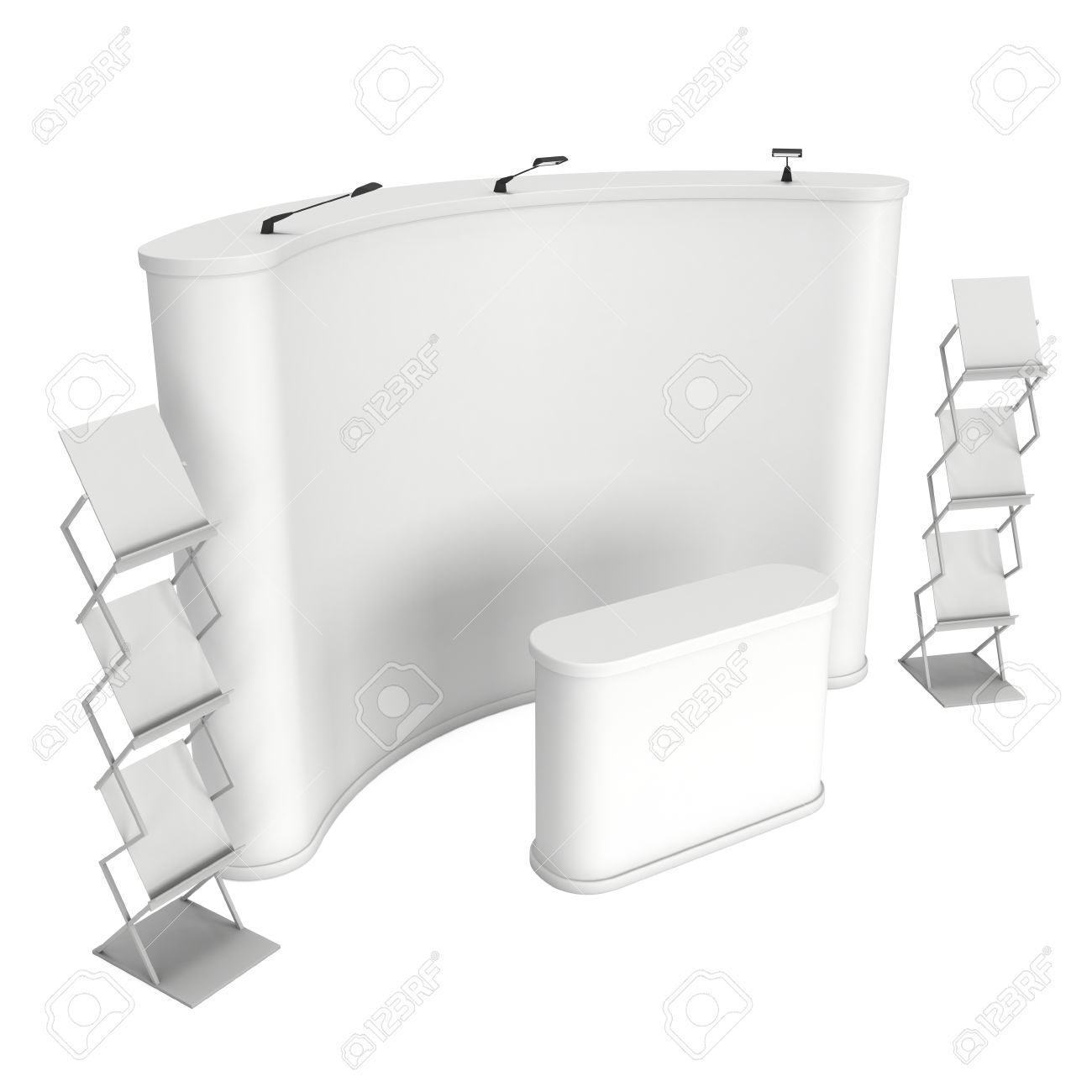 Trade Show Booth And Magazine Rack Stand For Magazines White Stock Photo Picture And Royalty Free Image Image 51289286