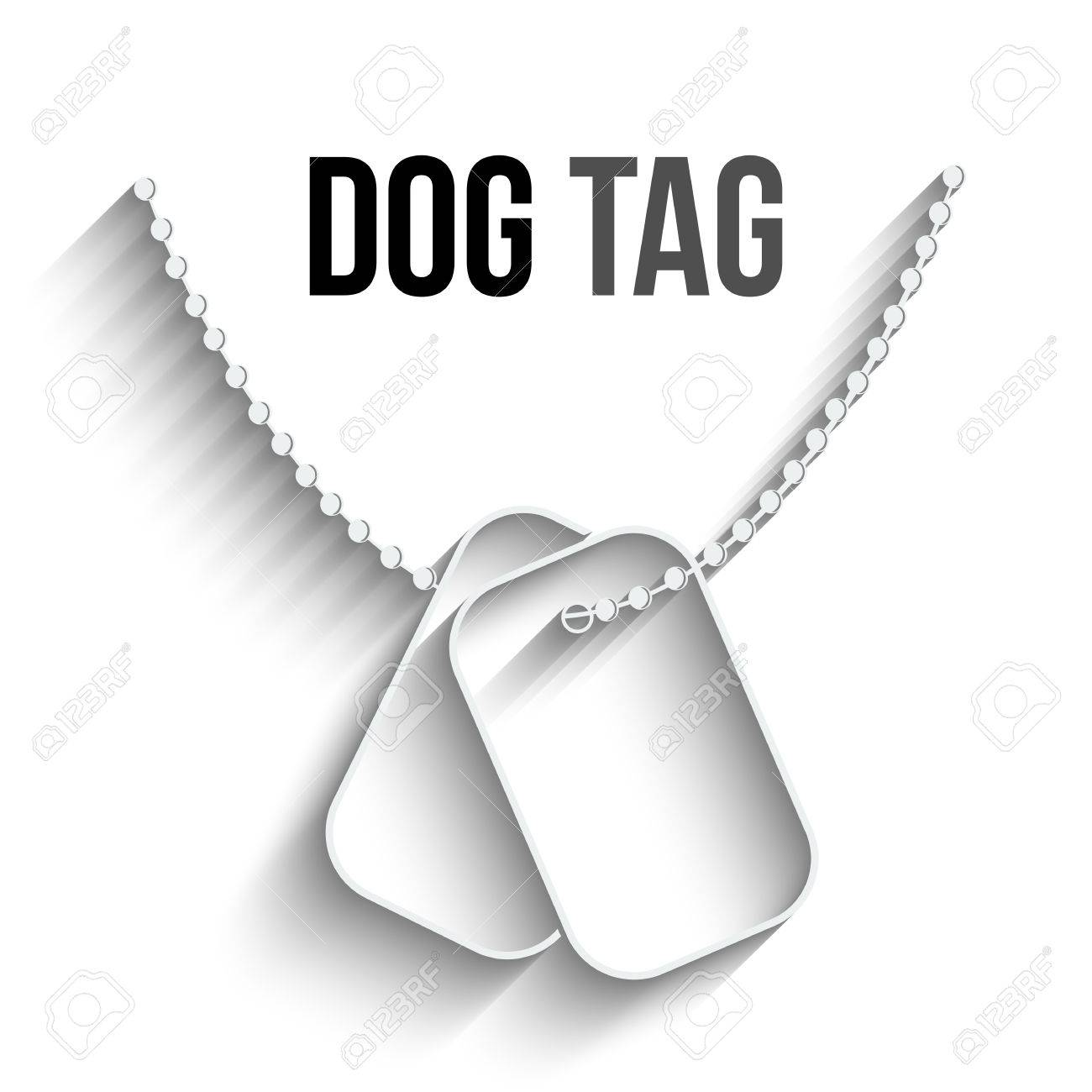 Dog Tags With Chain Icon Isolated On White Background Vector