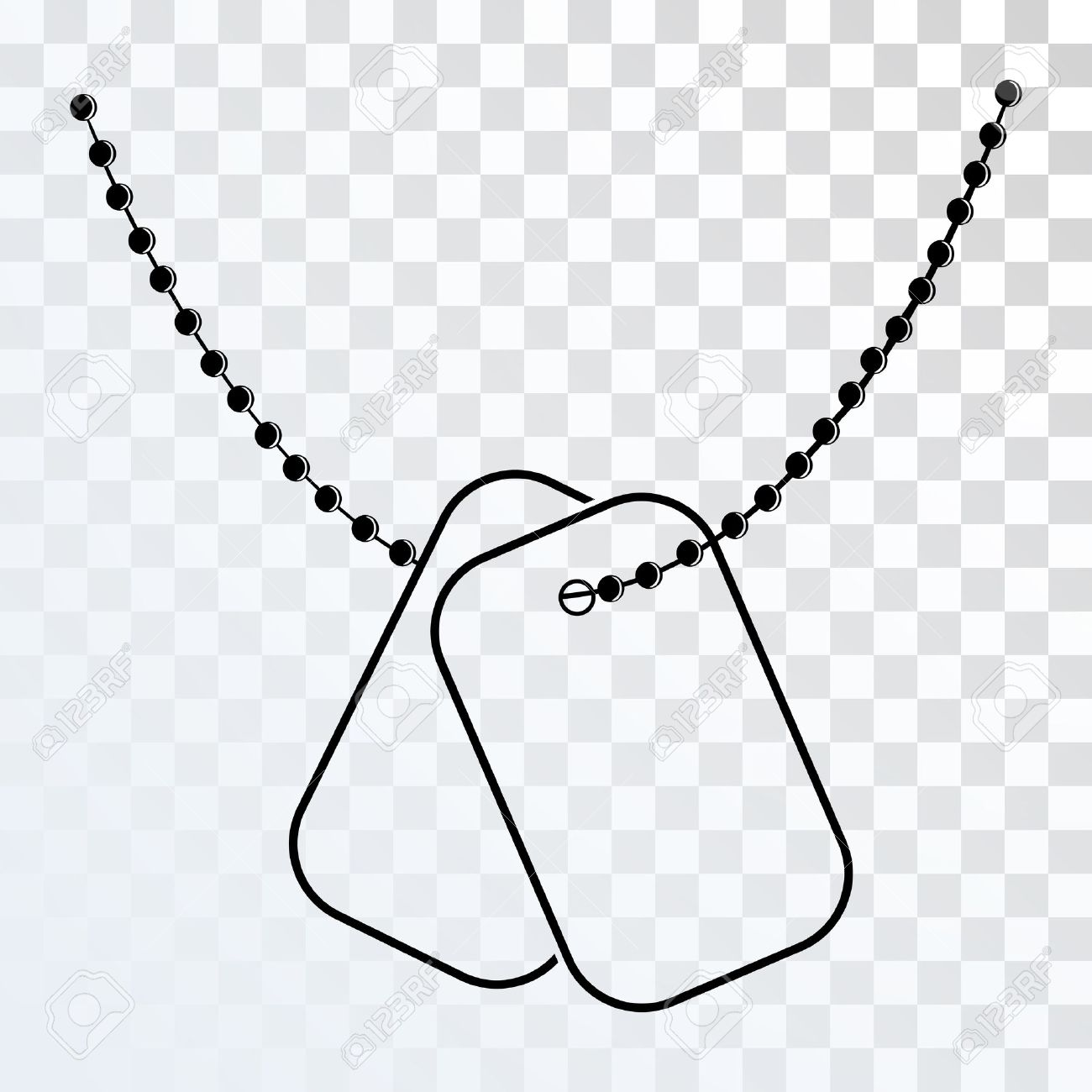 Dog Tags With Chain Icon Isolated On Transparent Background