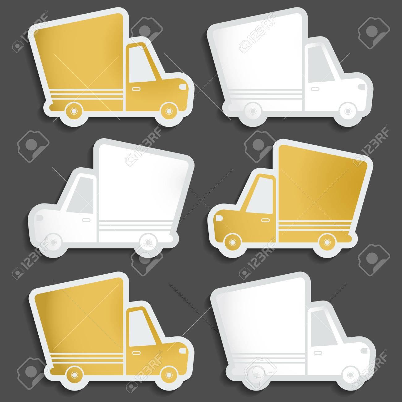 Van delivery set of blank stickers  Free delivery, fast delivery,