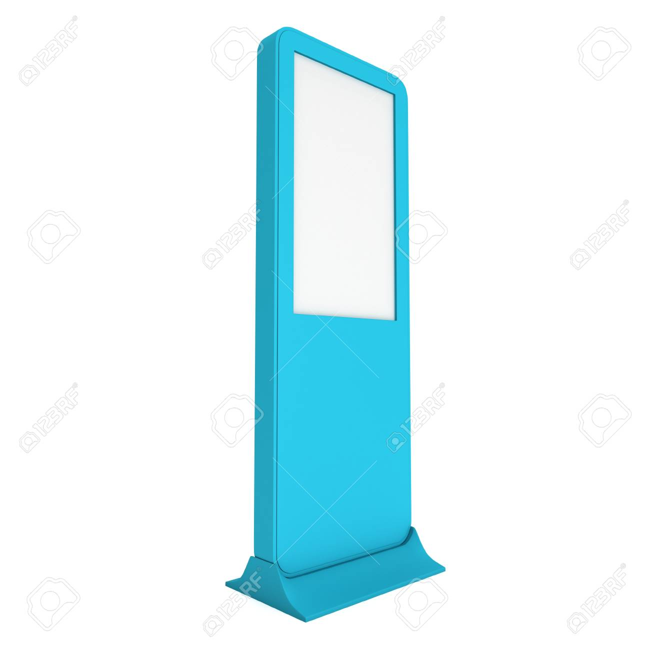 Expo Stands Kioska : Lcd kiosk stand. blank trade show booth. 3d render isolated on