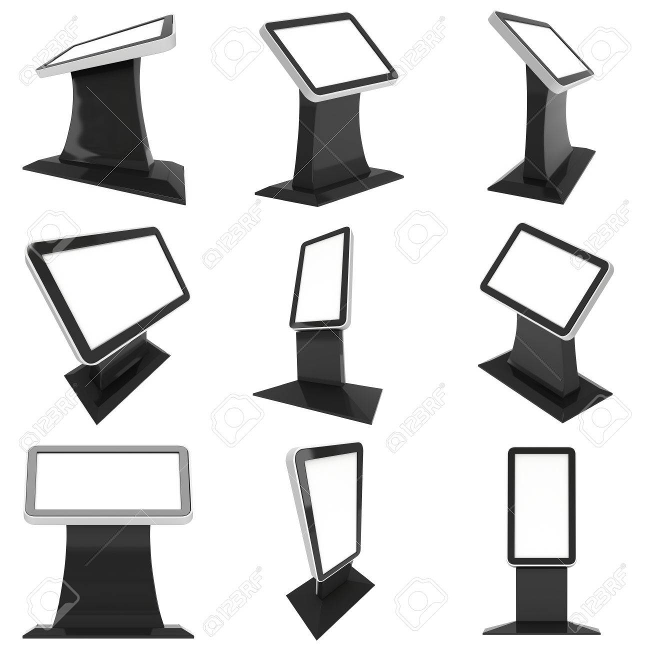 Lcd Screen Floor Stand Set Blank Trade Show Booth Collection Stock Photo Picture And Royalty Free Image Image 57661433