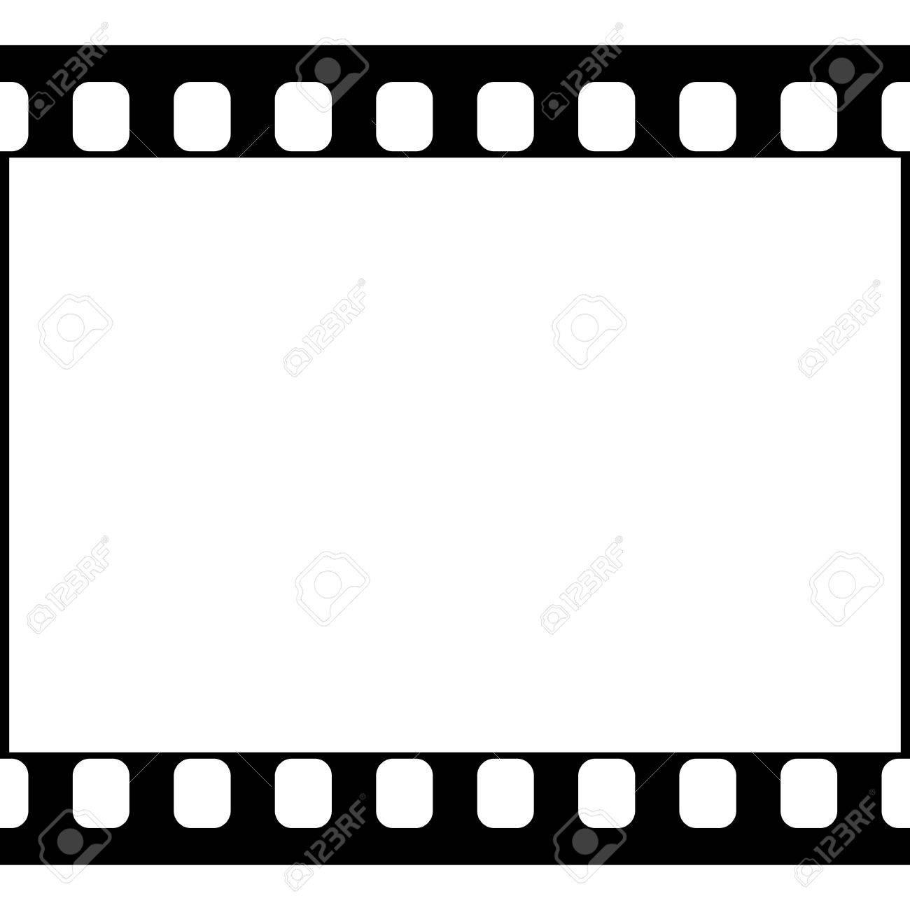 Vector 35 Mm-Film-Streifen Illustration Auf Weißem Hintergrund ...
