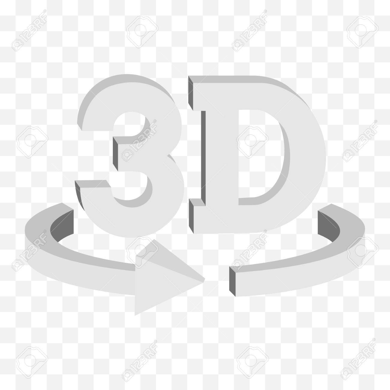 Background image rotate - 3d Rotate Button Sign In Solid Grayscale Colors Icon On Transparent Background Blank Horisontal Rotation