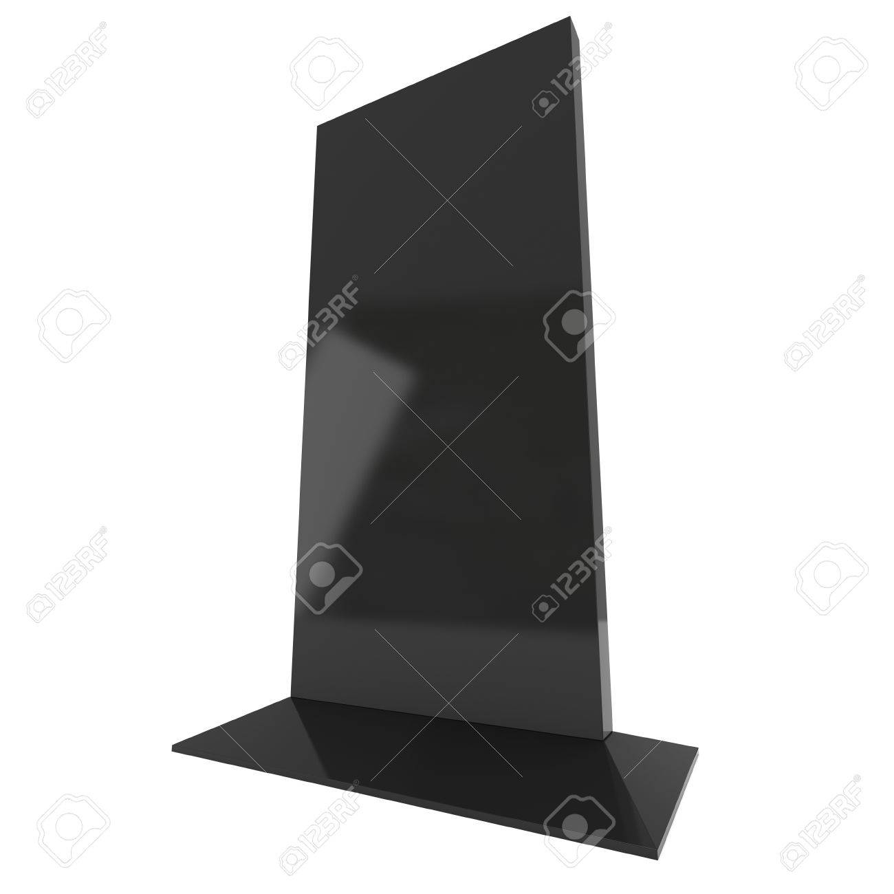 foto de archivo soporte para tv lcd en blanco stand de feria d de lcd tv aislados sobre fondo blanco plantilla de anuncio de alta resolucin para su