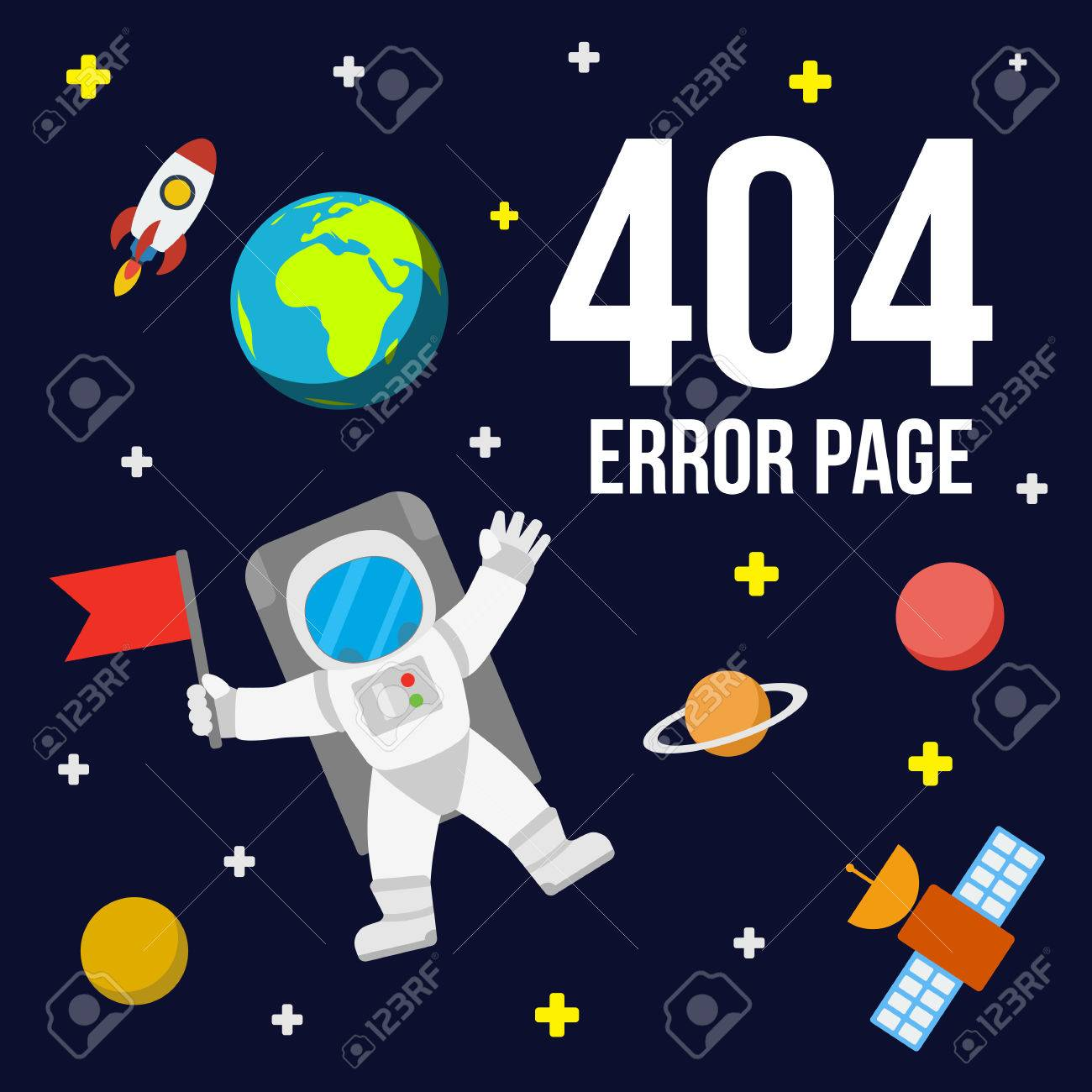 universe 404 error page template for website outer space with
