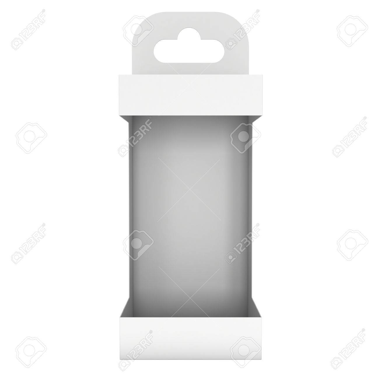 White Paper Hanging Open Box Packaging Container With