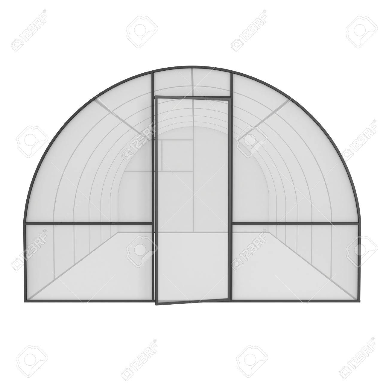 Greenhouse Construction Frame. Hothouse Building Object. Warm ...