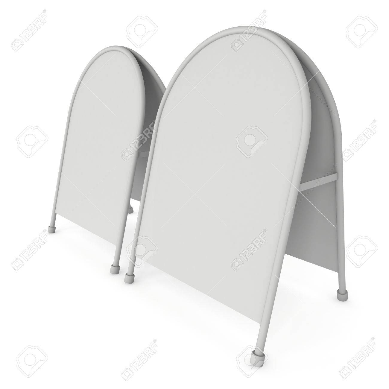 Sandwich Board. Blank Menu Outdoor Display With Clipping Path ...