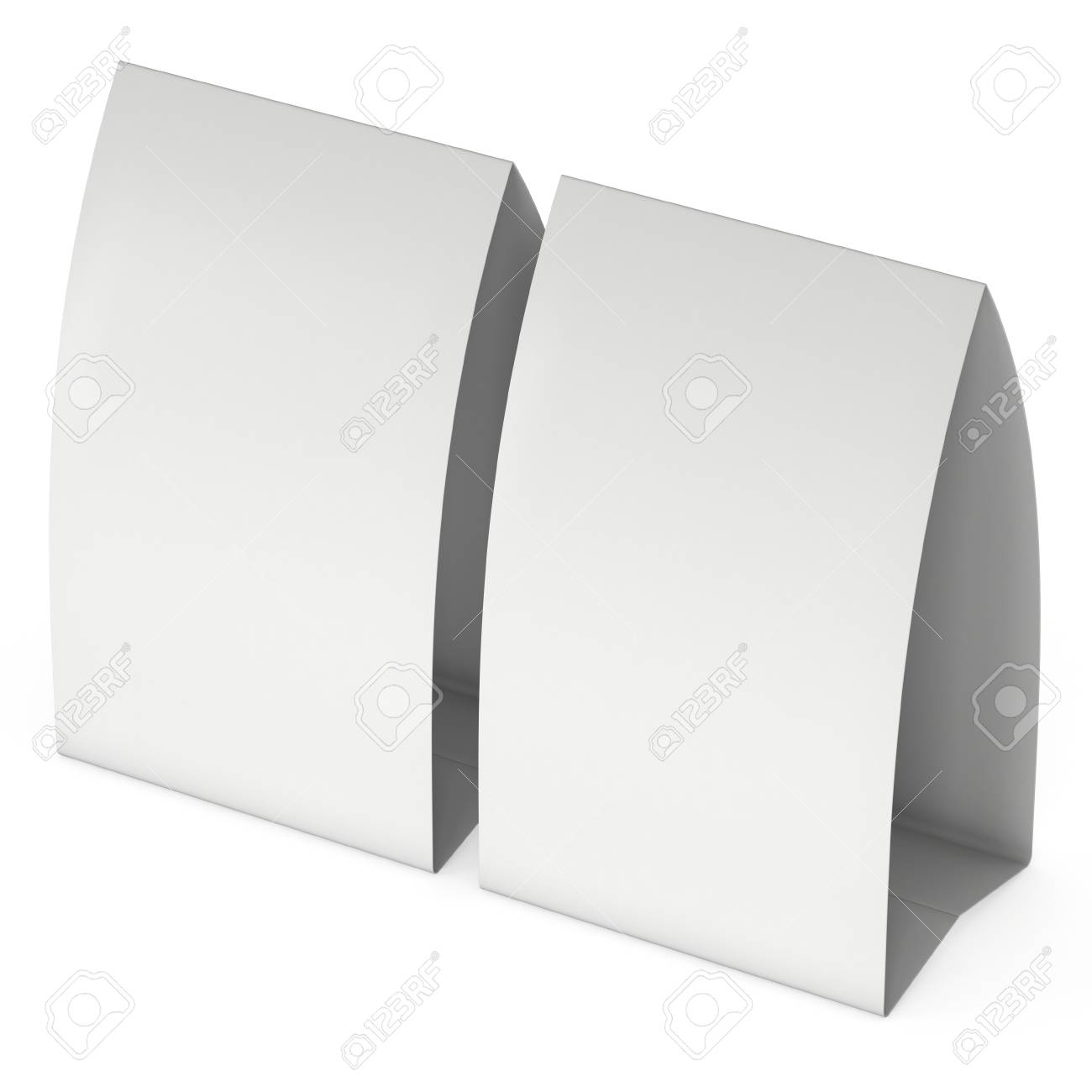 graphic regarding Printable Tent Card identify Blank paper tent card. 3d render.