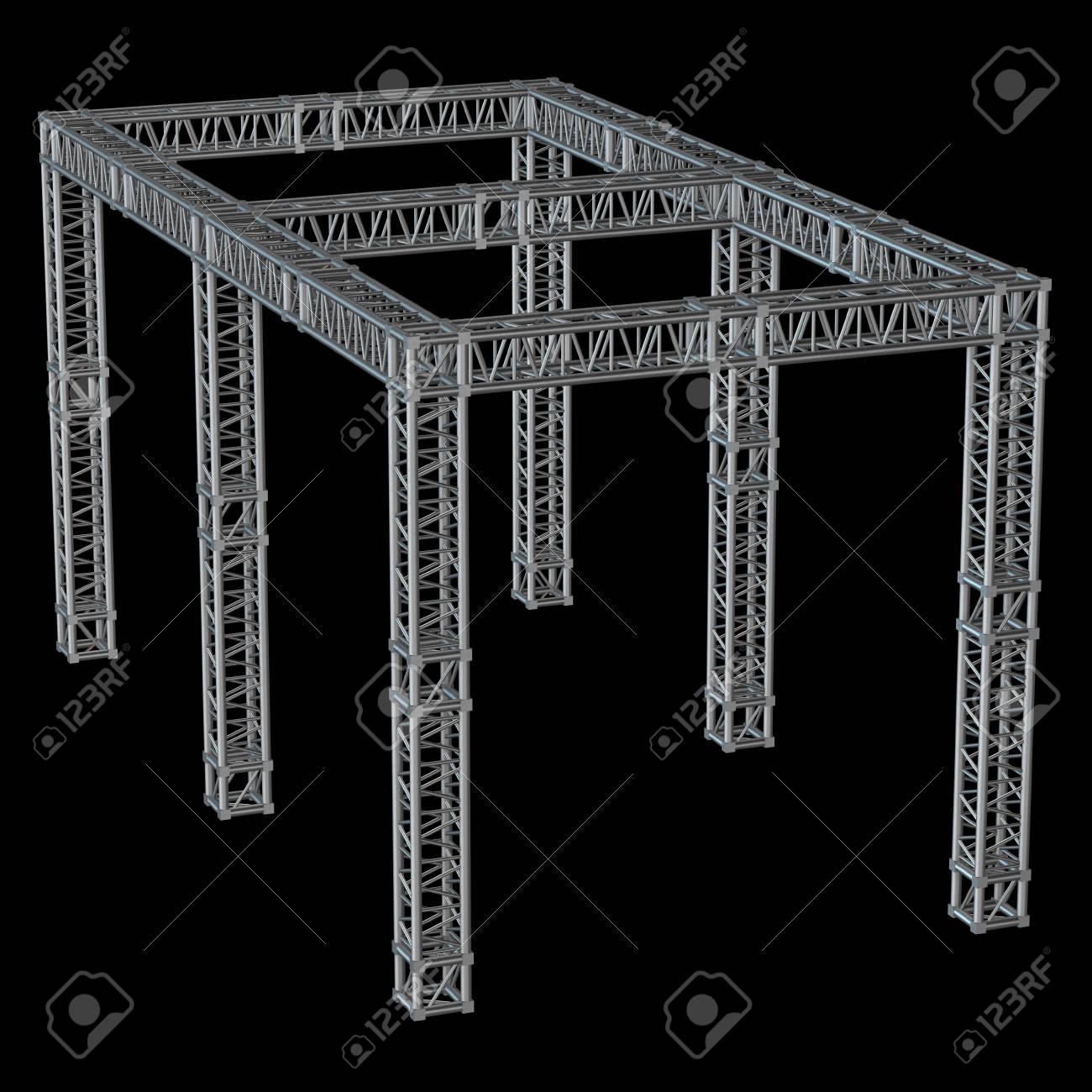 Stahlfachwerkträger Der Dachkonstruktion Lizenzfreie Fotos, Bilder ...