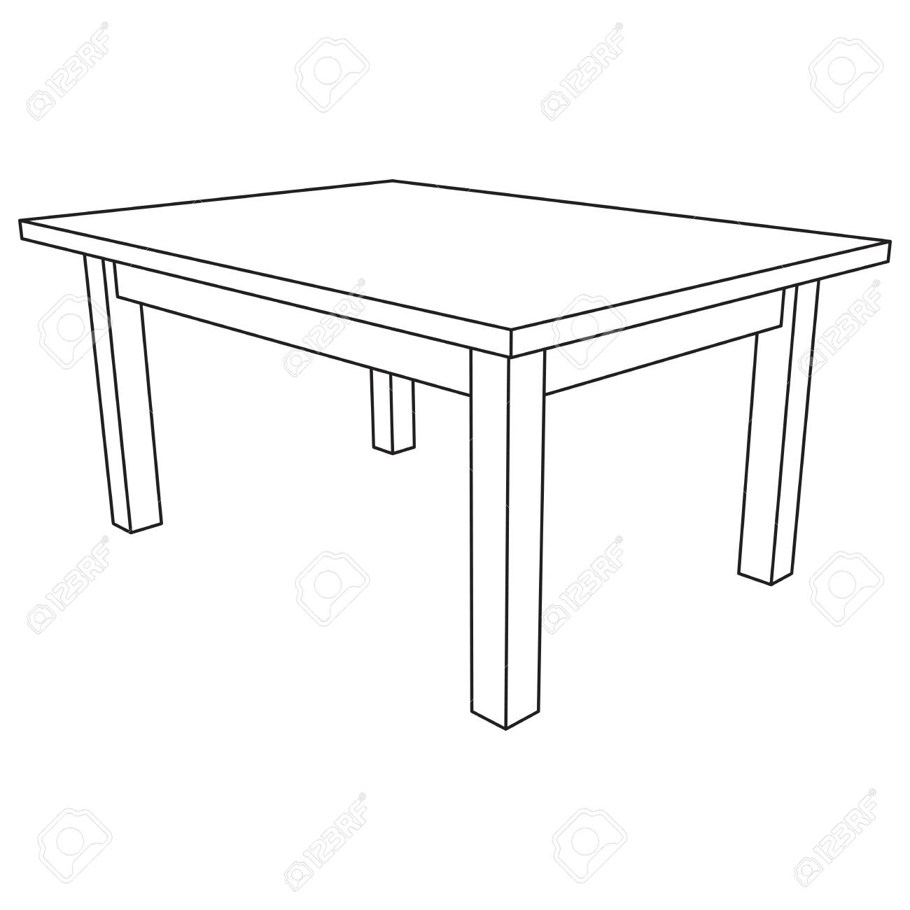 Table furniture wireframe blueprint linear outline pedestal table furniture wireframe blueprint linear outline pedestal vector illustration stock vector 86989153 malvernweather Choice Image