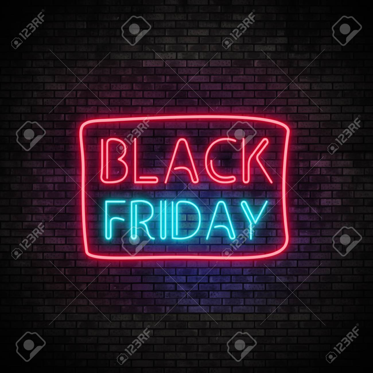 Black Friday Neon Light on Brick Wall - 88656928