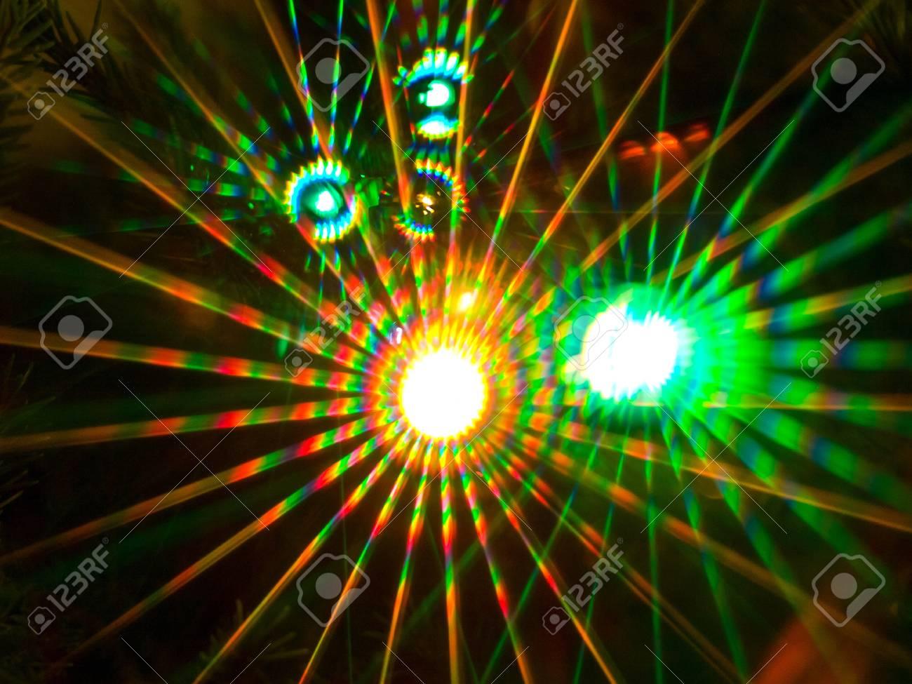Colorful beams of xmas lights Stock Photo - 8563803
